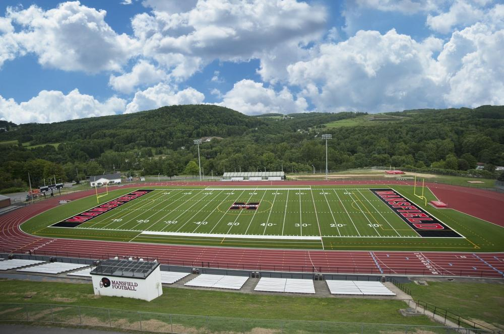 Karl Van Norman Field at Mansfield University. (Courtesy of Steven McCloskey)