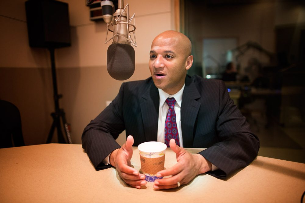 John Barros, at WBUR, in September 2013 (Jesse Costa/WBUR)