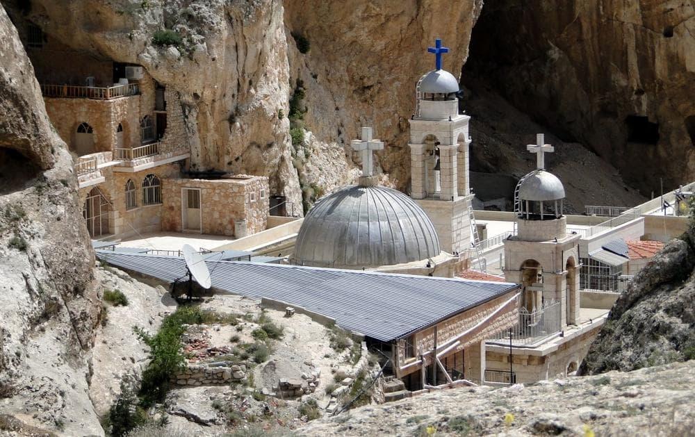 View of Saint Thecla (Mar Takla) monastery, in Maaloula, Syria. (Bernard Gagnon/Wikimedia Commons)