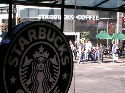 A Starbucks across the street from another Starbucks in Vancouver, British Columbia, Canada. (Rob Williams/Flickr)