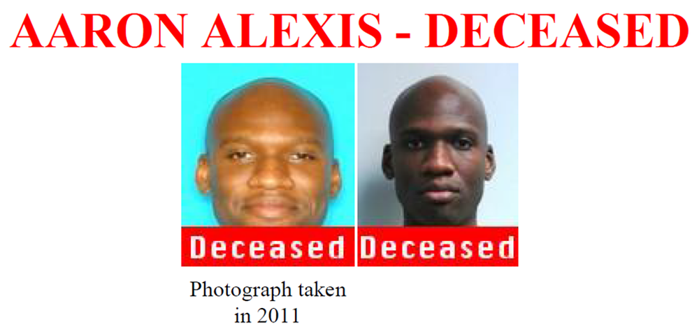 Images of Aaron Alexis are shown in a handout from the FBI seeking more information about the man authorities say committed the mass shooting at the Washington Navy Yard on Monday, Sept. 16, 2013. (FBI)