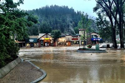 Downtown Estes Park, Colo., is pictured on the morning of Friday, Sept. 13, 2013. (Town of Estes Park Facebook page)