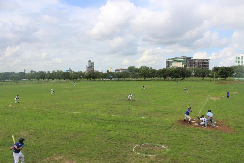 A baseball field in Myanmar. (David Grunebaum/Only A Game)