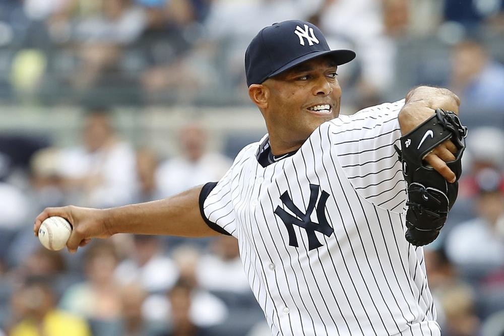 Mariano Rivera of the New York Yankees closes out a game. (John Minchillo/AP)