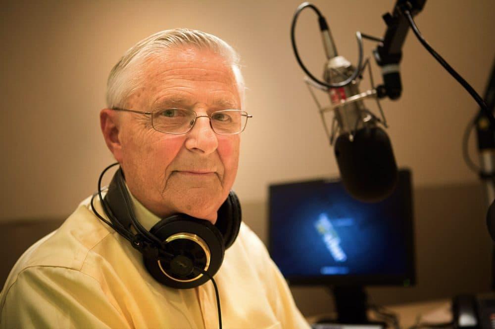 Dr. Timothy Johnson, retired Medical Editor for ABC News, in the WBUR studios. (Jesse Costa/WBUR)