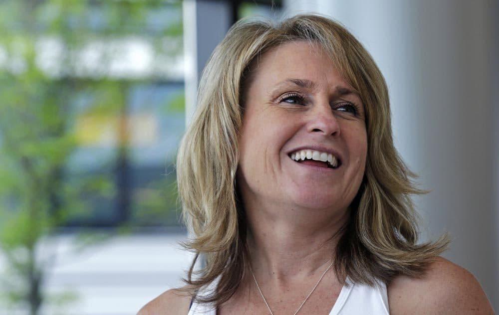 Boston Marathon bombing survivor Roseann Sdoia at the Spaulding Rehabilitation Hospital in June. (Charles Krupa/AP)