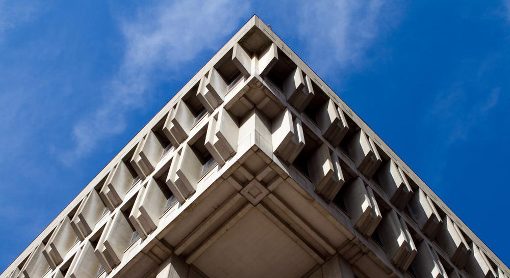 Simon Waxman: Boston City Hall is widely derided as being uncomfortable and impossible to navigate. But most of all, it offends because it looks bleak and utilitarian. (See-ming Lee/Flickr)