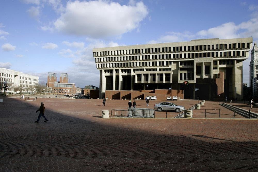 Boston City Hall, pictured on Tuesday, Dec. 12, 2006. (Chitose Suzuki/AP)