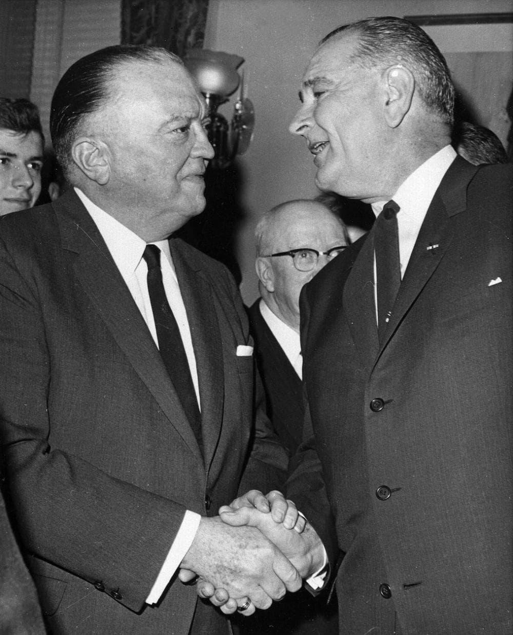 J. Edgar Hoover and Lyndon Johnson. (AP)
