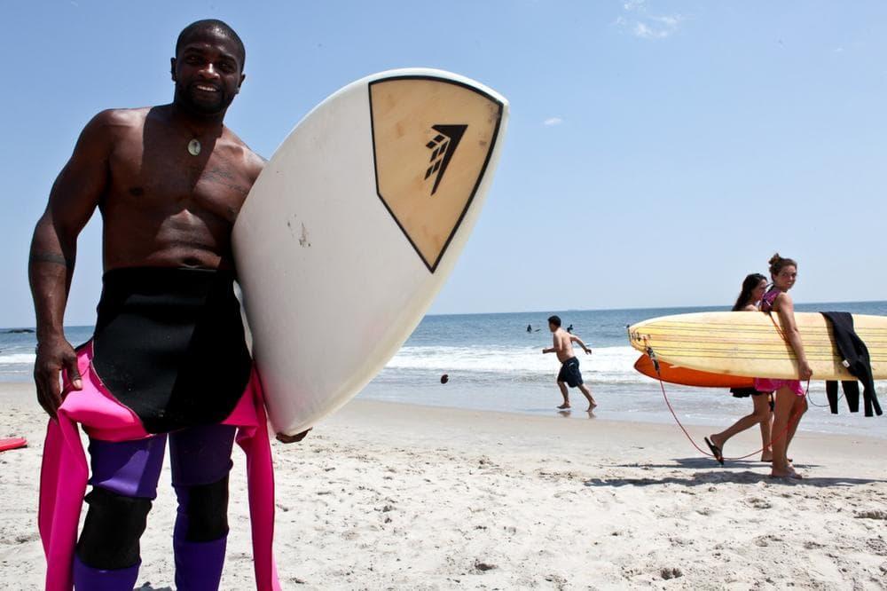 Surfer Louis Harris, 41, from Rockaway Beach. (Stephen Nessen/Only A Game)
