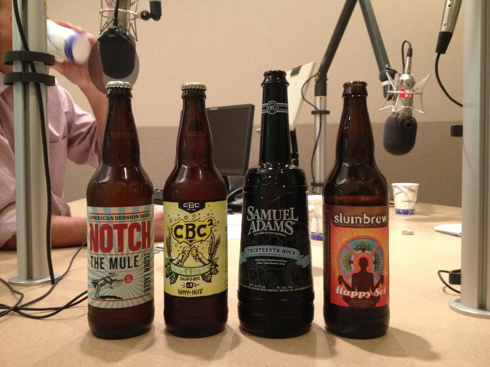 Beer expert John Holl brought four of his favorite local brews into our studios for Anthony to try.