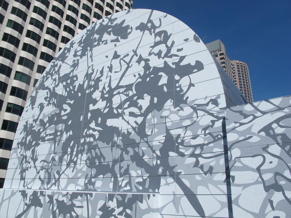 Matthew Ritchie's Dewey Square mural. (Andrea Shea/WBUR)