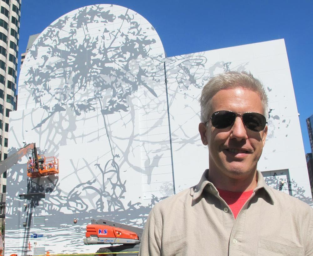 Artist Matthew Ritchie. (Andrea Shea/WBUR)