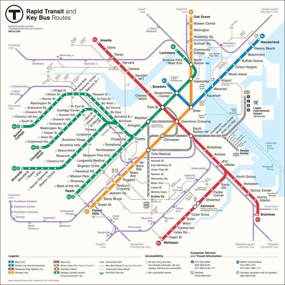 The MBTA Has A New System Map | WBUR News