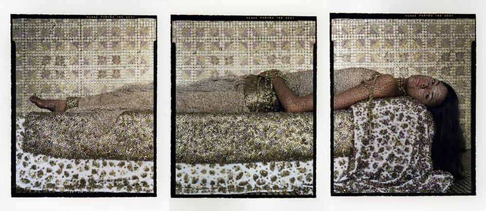 """""""Bullets Revisited"""" by Lalla Essaydi (Courtesy of the Museum of Fine Arts, Boston)"""