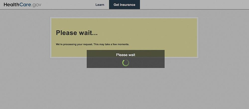 In this Friday, Oct. 11, 2013 computer frame grab, a HealthCare.gov website message is displayed. (AP/HealthCare.gov)