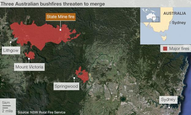 Australia fires graphic