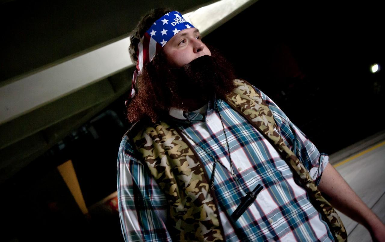 One popular Halloween costume this year is based on the Au0026E reality television series  Duck & Halloween Costume Hits: Sharknado Duck Dynasty | Here u0026 Now