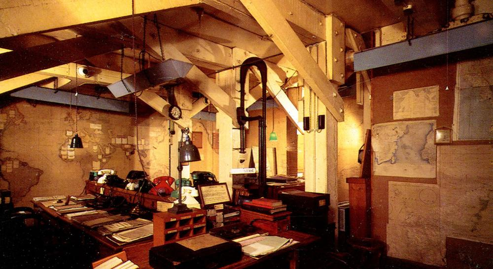 The WWII-era Map Room in the bunker that used to house the Cabinet War rooms, in central London. (roger4336/flickr)