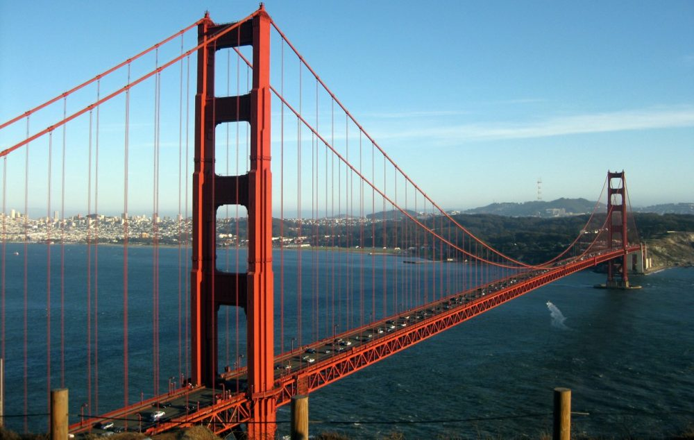 """Last week, the board that oversees the Golden Gate Bridge in San Francisco approved $76 million to install steel suicide """"nets"""" to prevent suicides. (wallyg/Flickr)"""