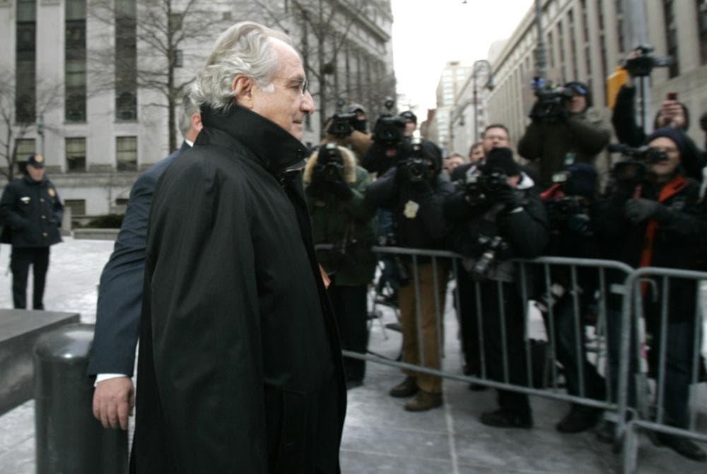 Bernard Madoff leaves Federal Court Wednesday, Jan. 14, 2009 in New York. (Frank Franklin II/AP)