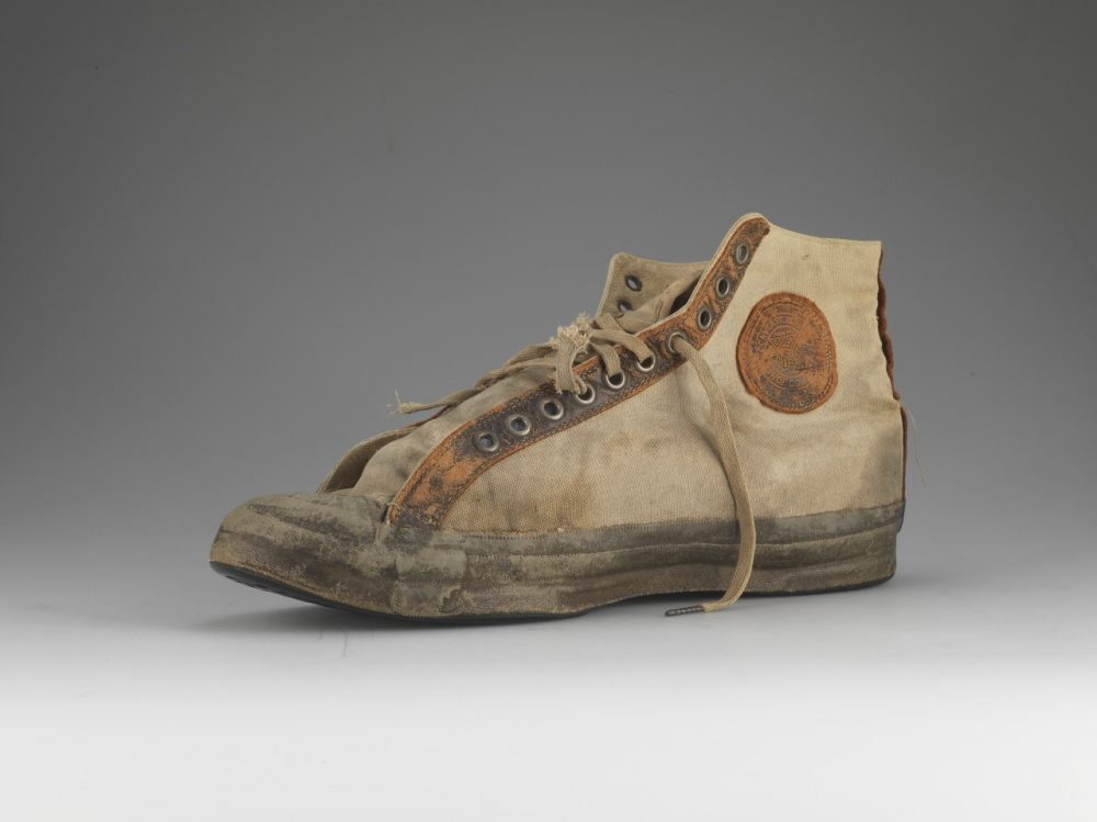 The original 1917 Converse All Star. Chuck Taylor's name was added in 1932. (Courtesy of Converse)
