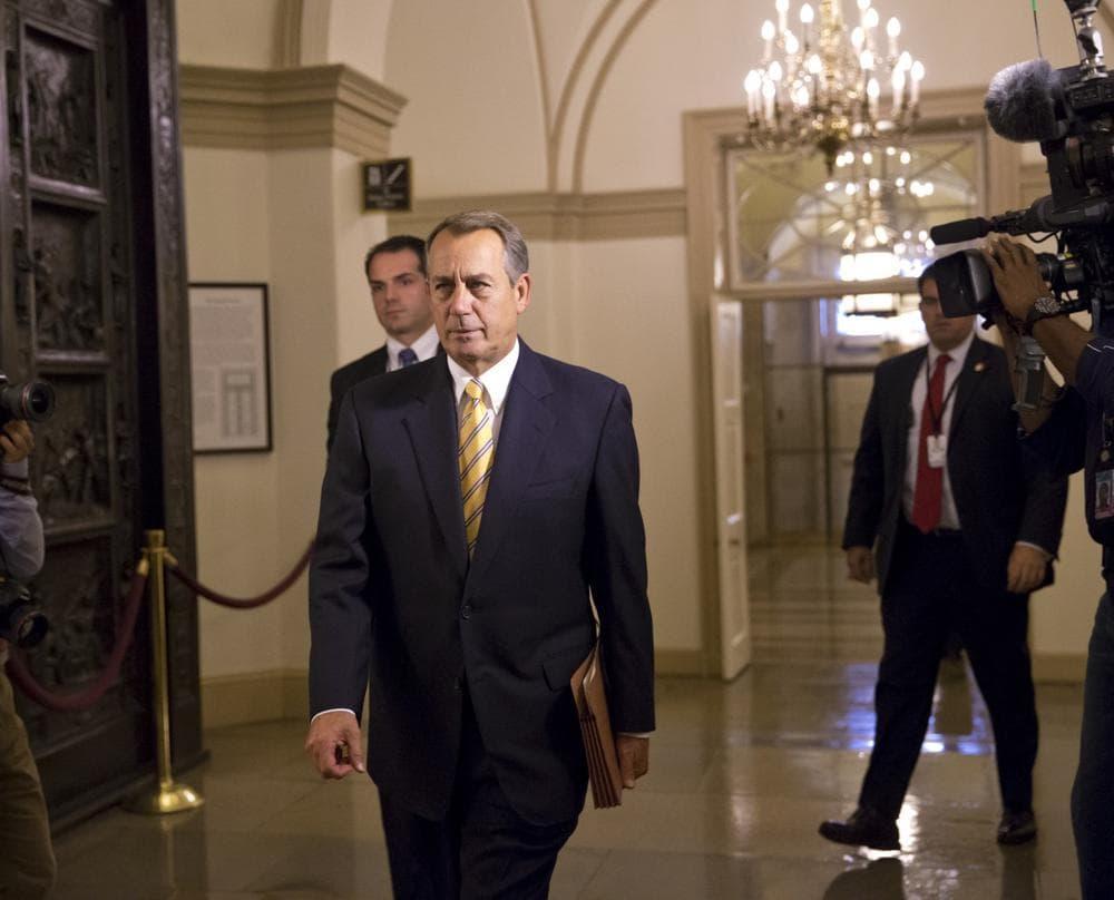 Speaker Boehner, R-Ohio, arrives at the Capitol, Wednesday, Oct. 9, 2013. (J. Scott Applewhite/AP)