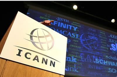 "In this Wednesday June 13, 2012, file photo, Internet Corporation for Assigned Names and Numbers, ICANN, President and Chief Executive Rod Beckstrom, speaks on expanding the number of domain name suffixes during a press conference in London. Hundreds of Internet address suffixes to rival "".com"" should be available for people and businesses to use by the end of the year, the head of an Internet oversight agency said Monday Feb. 25, 2013. (AP)"