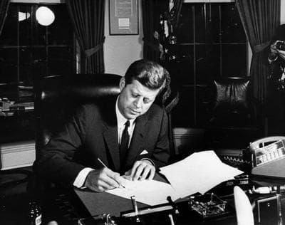 President John F. Kennedy in 1962 (Wikimedia Commons)
