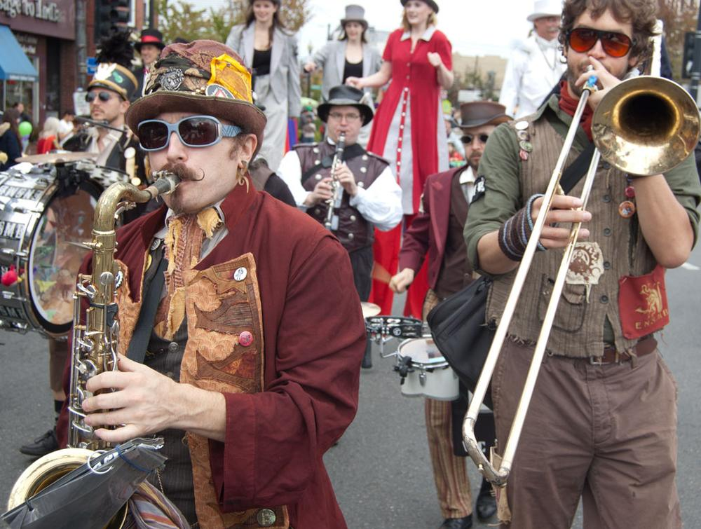 Emperor Norton's Stationary Marching Band of Somerville. (Greg Cook)