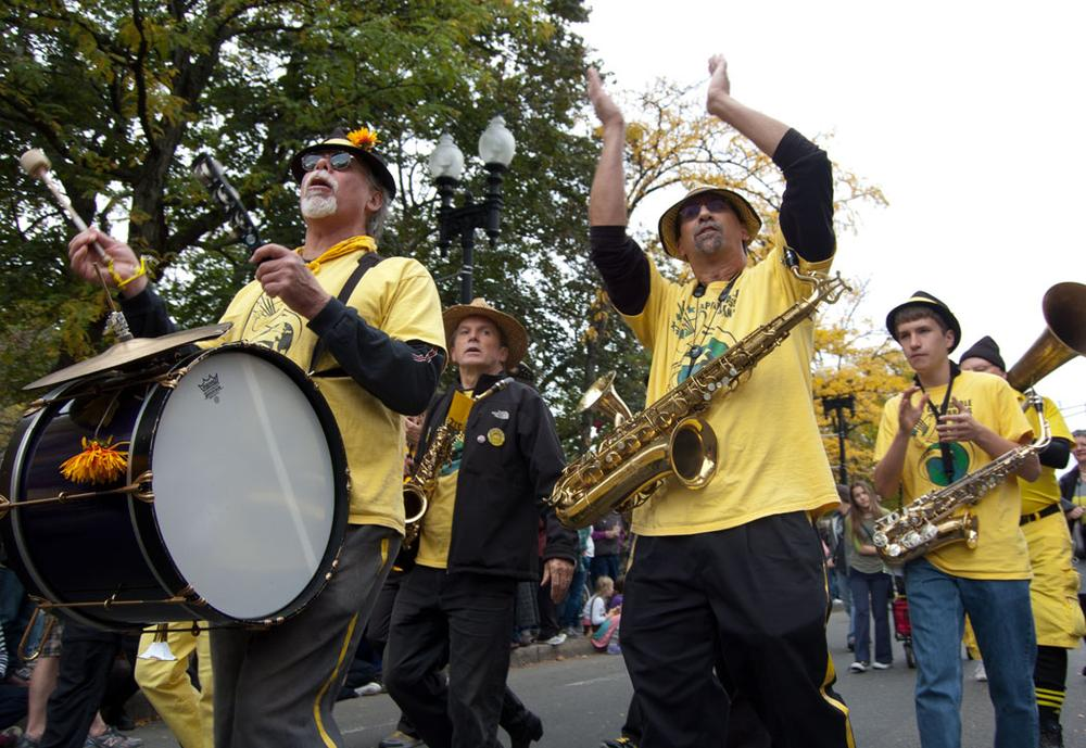 The Expandable Brass Band from Northampton. (Greg Cook)