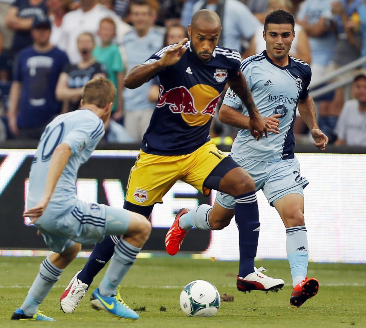 French striker Thierry Henry has helped NewYork reach the top of the MLS standings. (Orlin Wagner/AP)