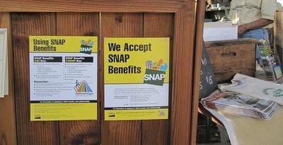 Healdsburg Farmers Market in California accepts food stamps. (mswine/Flickr)