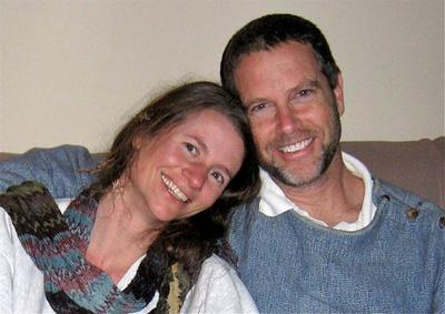 "Jessica Wolk and Jim Benson after their ""shadow wedding."" (Courtesy of the Bensons)"