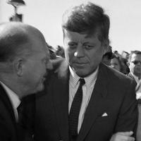 President John F. Kennedy and first lady Jacqueline Kennedy on their arrival at the Dallas Airport on Nov. 22, 1963. (HWB/AP)