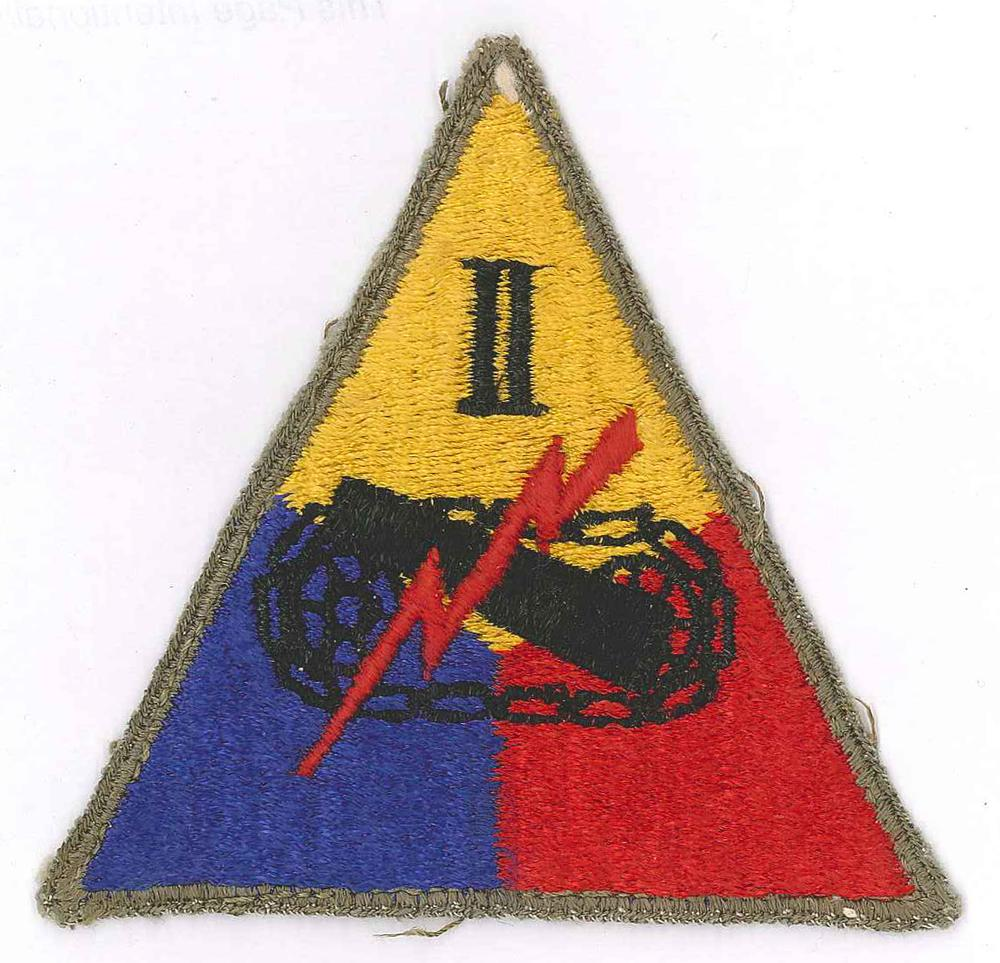 Alex Ashlock isn't sure of the meaning of this patch, which belonged to his father. Some say it's for the 2nd Armored Division, but he's not sure.
