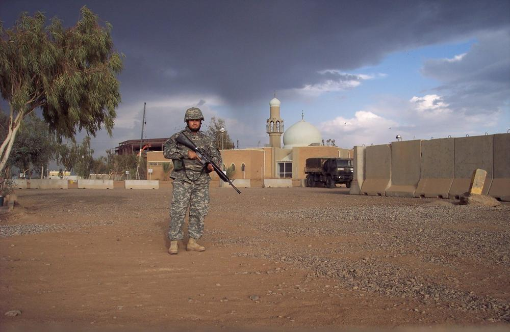 Frank Medina, former Army Captain, is pictured while serving in Iraq. (Courtesy of Frank Medina)