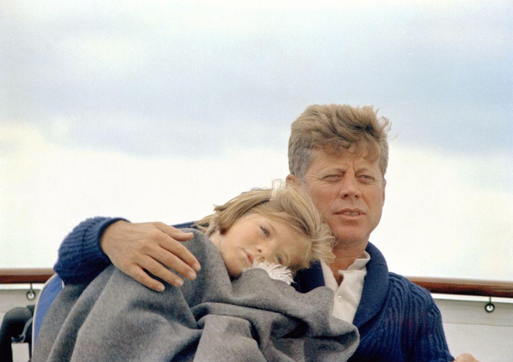 President John F. Kennedy with his daughter, Caroline Kennedy, in Hyannisport. (Courtesy JFK Library)