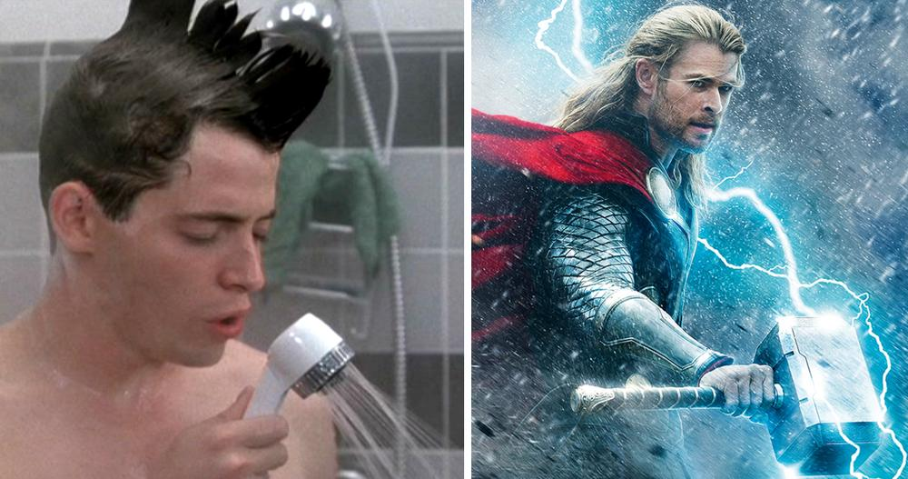 "At left, a scene from ""Ferris Bueller's Day Off"" (1986). At right, an image from ""Thor: The Dark World"" (2013). Both are rated PG-13."
