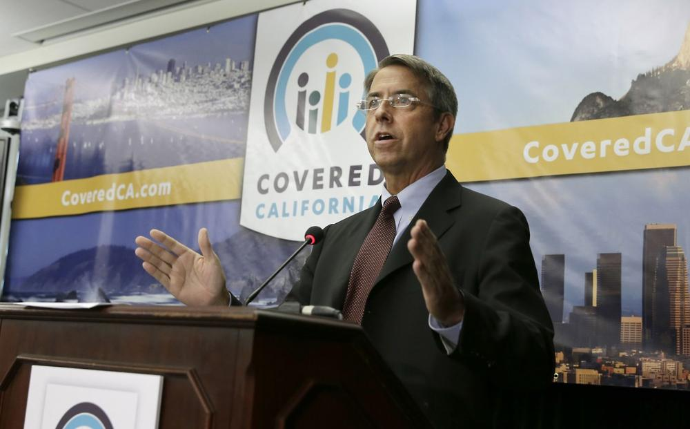 Peter Lee, executive director of Covered California, discusses the state's new health care exchange, Oct. 1, 2013. (Rich Pedroncelli/AP)