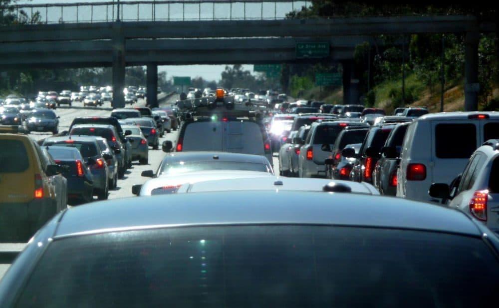 Bumper-to-bumper traffic heading toward Los Angeles International Airport. (Pranav Bhatt/Flickr)
