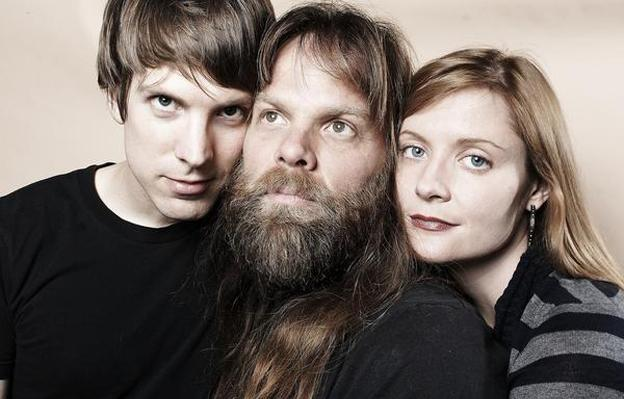 Jonathan Meiburg, Thor Harris and Kimberly Burke are the band Shearwater. (Shearwater)