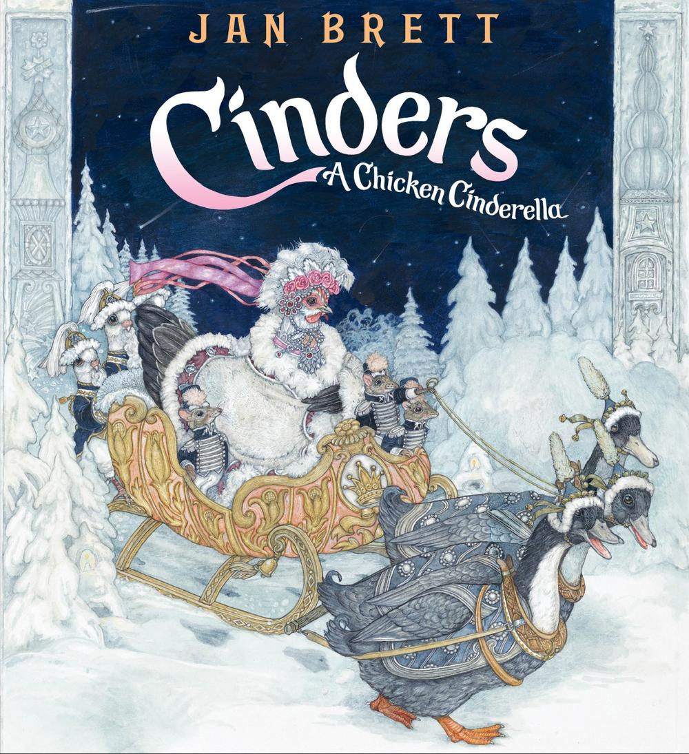 "The cover of ""Cinders"" by Jan Brett."