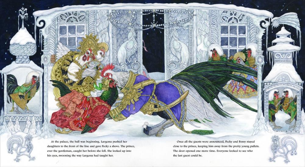 Pecky falls into the prince's arms at the ball. (Click to enlarge)