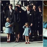 "Molly Howes: Fifty years ago, JFK's assassination hit America — and its children — hard. A few months later, the Beatles sang on Ed Sullivan and revived our youthful optimism. In these photos: Left, three-year-old John F. Kennedy Jr. salutes his father's casket in Washington on Nov. 25, 1963, three days after the president was assassinated in Dallas. Also pictured: Jacqueline Kennedy, Caroline Kennedy, Edward Kennedy, and Robert Kennedy. Right: The Beatles perform on the ""Ed Sullivan Show"" in New York Feb. 9, 1964. From left, front, are Paul McCartney, George Harrison and John Lennon. Ringo Starr plays drums. (Both photos/AP)"
