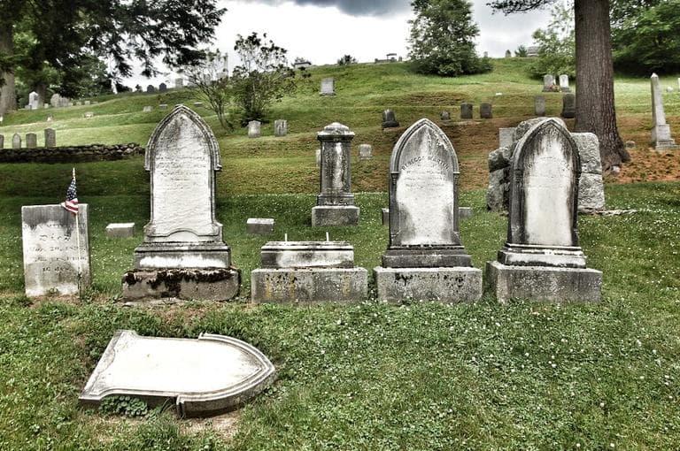 A cemetery in Walpole, NH. (Alex Kingsbury/WBUR)