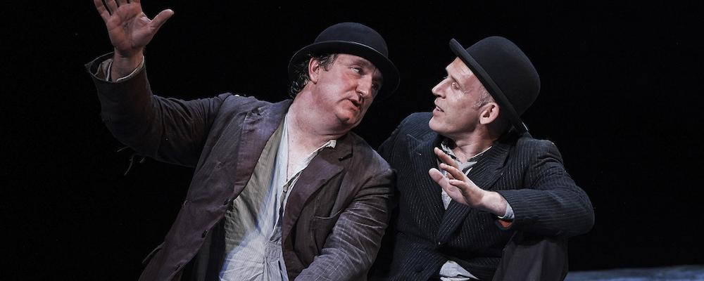 """Gary Lydon and Conor Lovett in """"Waiting for Godot"""" at the Paramount Theatre. (Photo@RosKavanag)"""