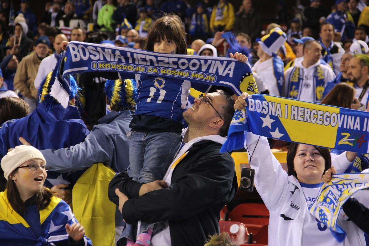 Bosnians from across the nation gathered in St. Louis to watch their national soccer team play a friend match with Argentina at Busch Stadium. (Tim Lloyd/Only A Game)