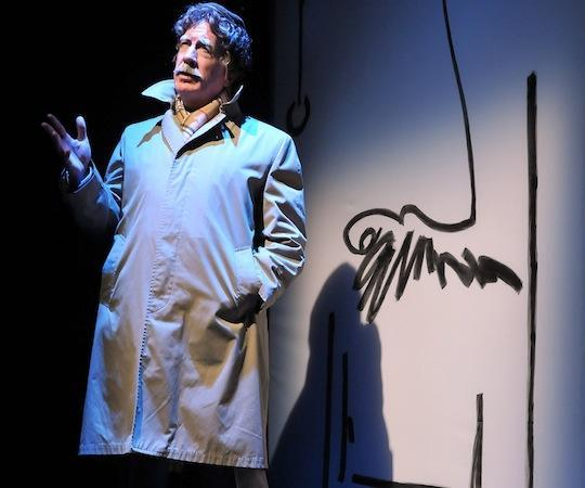 "Richard Snee as Kurt Vonnegut in ""Make Up Your Mind"" at SpeakEasy Stage Company. (Craig Bailey/Perspective Photo)"