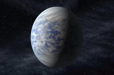 This artist's rendition provided by NASA shows Kepler-69c, a super-Earth-size planet in the habitable zone of a star like our sun, located about 2,700 light-years from Earth in the constellation Cygnus. Astronomers using NASA data calculate that in our galaxy alone there are at least 8.8 billion Earth-sized planets that are not too hot or not too cold circle stars that are just like our sun, according to a study published Monday, Nov. 4, 2013 in the journal Proceedings of the National Academy of Science.